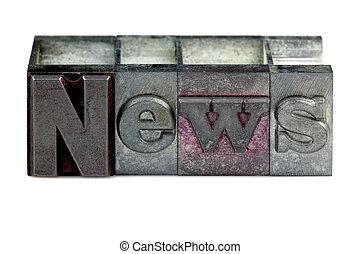 notizie, letterpress