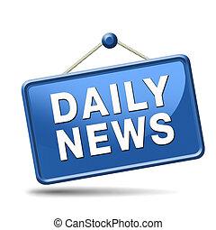notizie, quotidiano, icona