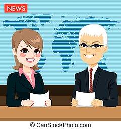 notizie, segnalazione, ancorare