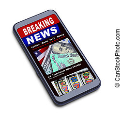 notizie, telefono, rottura, far male