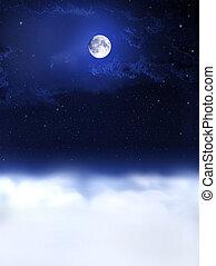 notte, dreams..., luna, luce