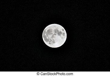 notte, sky., supermoon, stelle