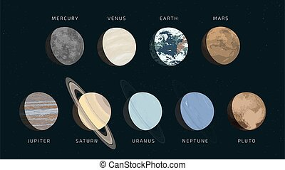 nove, sistema, solare, pianeti, nostro
