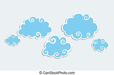 nubi bianche, blu, bordo