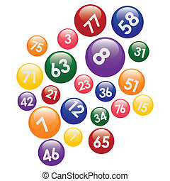 numbers., palle, lotteria