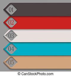 numerato, bandiere, 3d