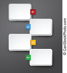 numerato, infographics, elenco, design.