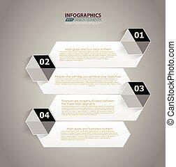 numerato, sito web, stile, grafico, disposizione, alfabeto, moderno, linee, orizzontale, /, infographic, bandiere, vettore, disegno, sagoma, infographics, disinserimento, o, minimo