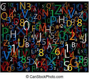 numero, alfabeto