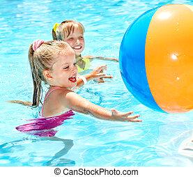 nuoto, pool., bambini