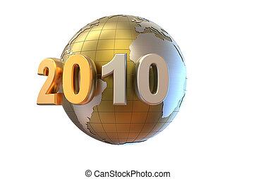 nuovo, 3d, 2010, fondo, anno