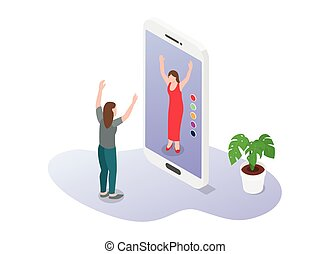 nuovo, 3d, moderno, appartamento, vestiti, moda, comprare, virtuale, stile, augmented, realtà, ecommerce, o, tecnologia