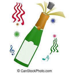 nuovo, celebrazione, felice, anno