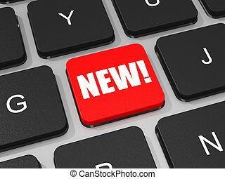 nuovo, chiave computer portatile, computer., tastiera
