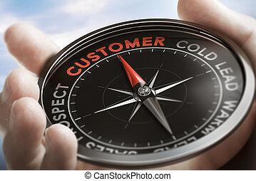 nuovo, conversion., clienti, piombo, trovare