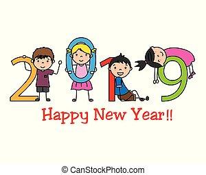 nuovo, felice, 2019, anno