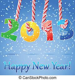 nuovo, felice, fondo., 2013, anno