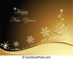 nuovo, felice, fondo, anno