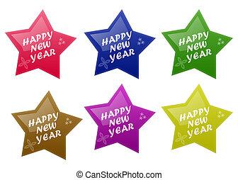 nuovo, felice, lucido, anno