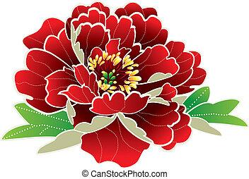 nuovo, fiore, cinese, anno