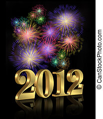 nuovo, fireworks, anno, 2012