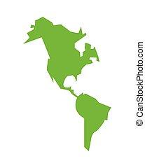 nuovo, geografia, continente, mappe, icona