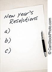 nuovo, resolutions, vuoto, anno