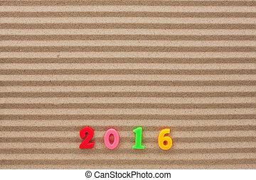 nuovo, sabbia, 2016, scritto, anno