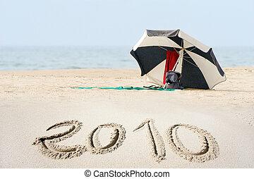 nuovo, spiaggia, 2010, anno