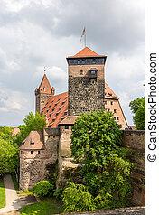 nuremberg, baviera, castello, vista