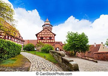 nuremberg, vista, kaiserburg, sinwellturm
