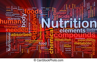 nutrizione, ardendo, concetto, salute, fondo