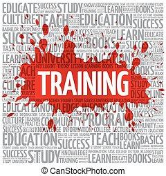 nuvola, addestramento, concetto, parola, educazione
