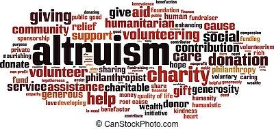 nuvola, altruism, parola