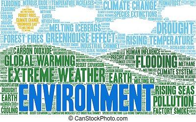 nuvola, ambiente, parola