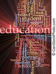 nuvola, ardendo, parola, educazione