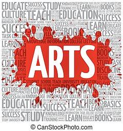 nuvola, arti, concetto, parola, educazione