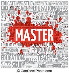 nuvola, concetto, parola, educazione, maestro