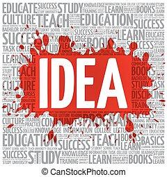 nuvola, concetto, parola, idea, educazione