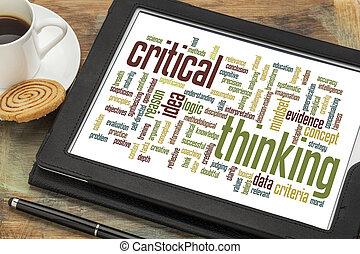 nuvola, critico, pensare, parola