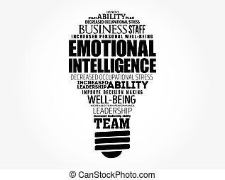 nuvola, emotivo, bulbo, intelligenza, luce, parola