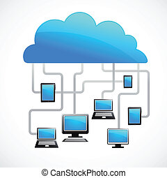 nuvola, immagine, vettore, internet