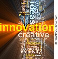 nuvola, innovazione, parola, ardendo