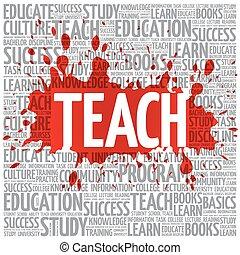 nuvola, insegnare, concetto, parola, educazione