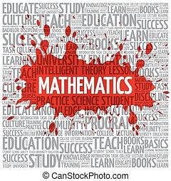 nuvola, matematica, concetto, parola, educazione