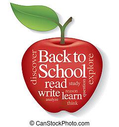 nuvola, mela, indietro, scuola, parola