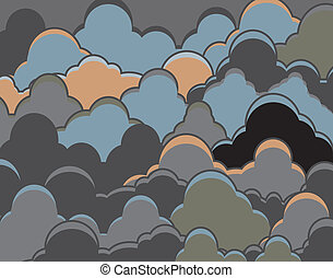 nuvoloso, fondo