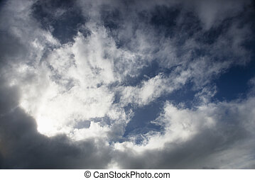 nuvoloso, sky.