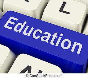 o, chiave, istruzione, addestramento, mezzi, educazione