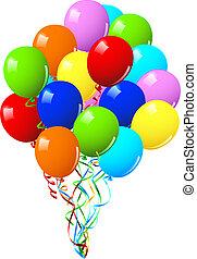 o, festa, celebrazione compleanno, palloni